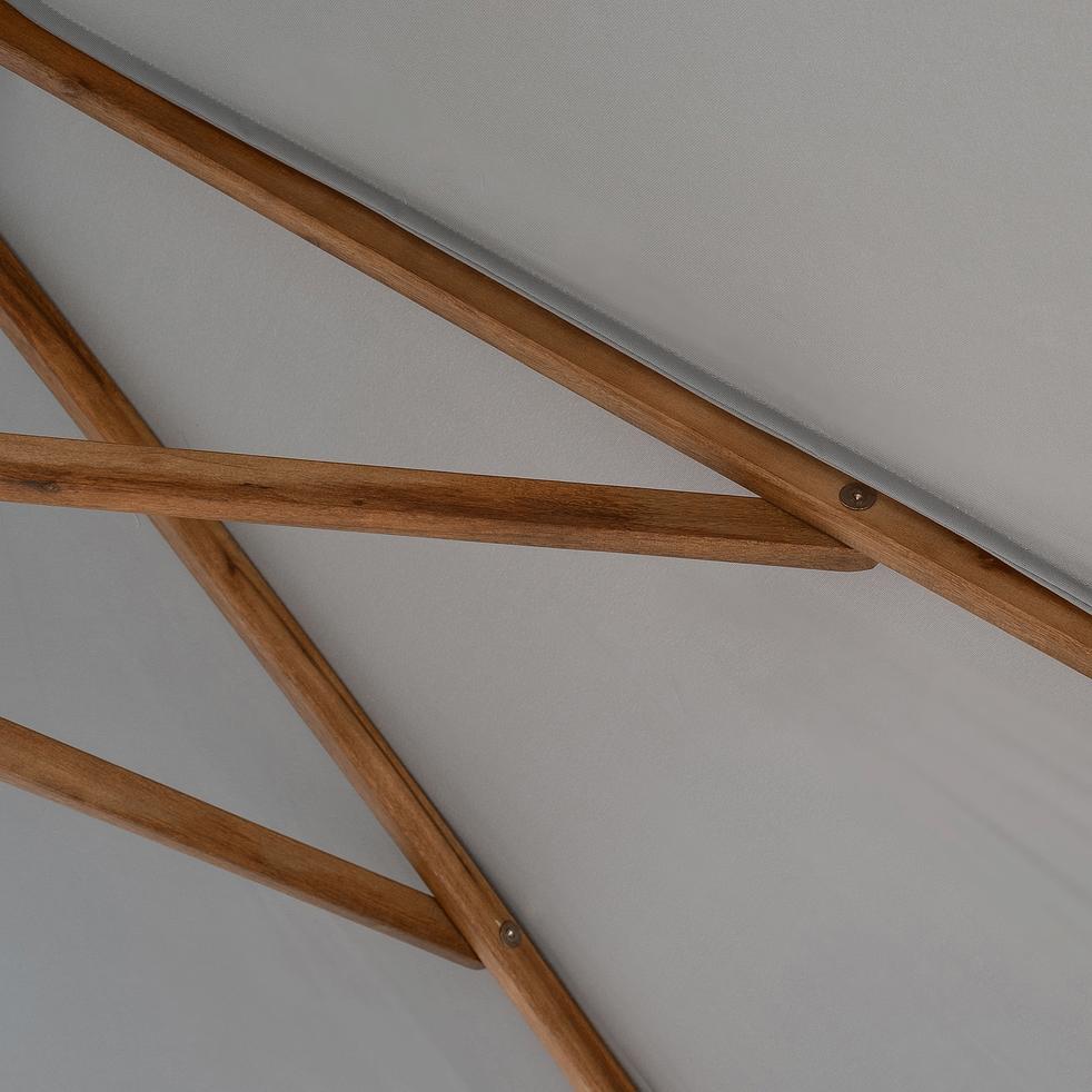 Parasol rond droit en eucalyptus D3 m-VALLORIA