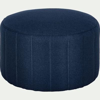 Pouf rond en tissu - bleu foncé D60cm-SHELL