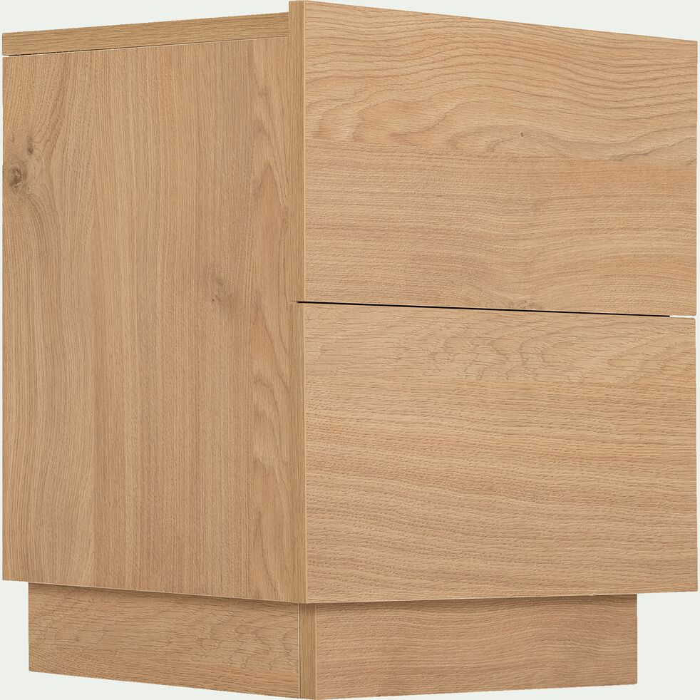 Chevet 2 tiroirs - chêne-GASPARD