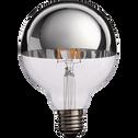 Ampoule décorative LED chromé D9,5cm culot E27-GLOBE