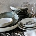 Assiette creuse en grès blanc ventoux D20cm-KYMA