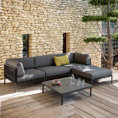 Table basse de jardin en aluminium gris anthracite-ALEX