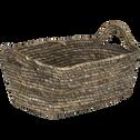 Panier en feuilles de maïs L30xl23xH13cm-Oriane