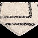 Tapis esprit berbère écru et noir 140x200cm-BARNABE