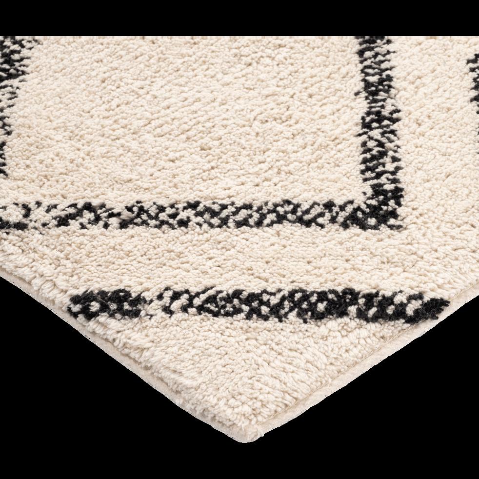 tapis esprit berb re cru et noir 140x200cm barnabe 140x200 cm grands tapis de salon alinea. Black Bedroom Furniture Sets. Home Design Ideas