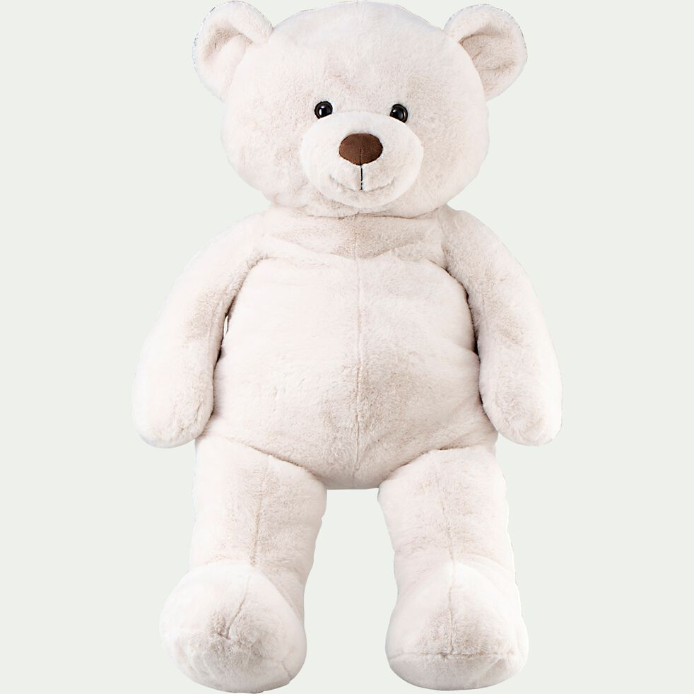 Peluche ours - blanc h100cm-Benjy
