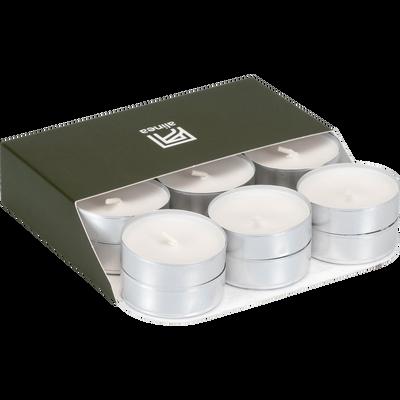 18 bougies chauffe-plats blanc capelan-HALBA