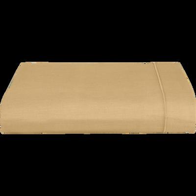 Drap plat en coton Beige nèfle - 180x300 cm-CALANQUES