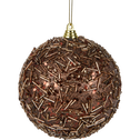 Boule de Noël en plastique marron D10cm-KHELIL