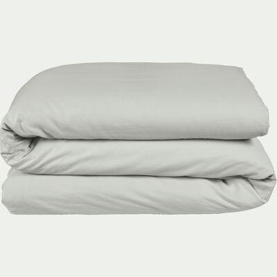 Housse de couette en satin de coton Gris borie - 240x220 cm-SANTIS