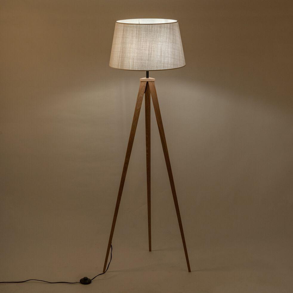 Lampadaire en bois - beiges roucas D45cm-TRIX