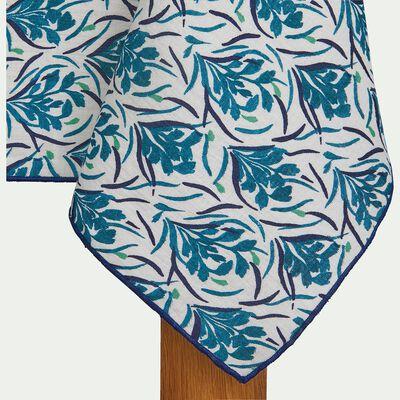 Nappe en coton bleu 170x250cm-AMPHORES