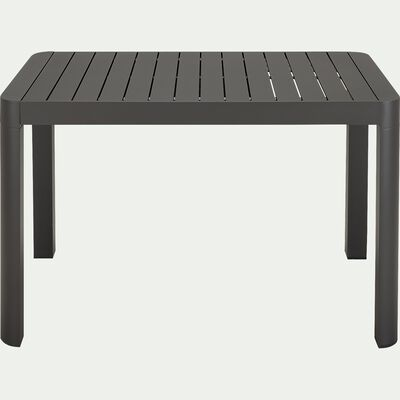 Table de jardin extensible en aluminium - gris ardoise 4 à 6 places-BALCONY