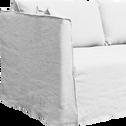 Canapé 5 places fixe en lin blanc capelan-VENCE