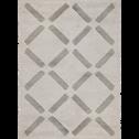 Tapis à poils courts beige 200x290cm-LEA