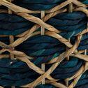 Panier en jacinthe d'eau - bleu myrte D33xH49cm-CROISETTE