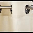 Kit tringle à rideau extensible en acier 70 à 120 cm-MANON