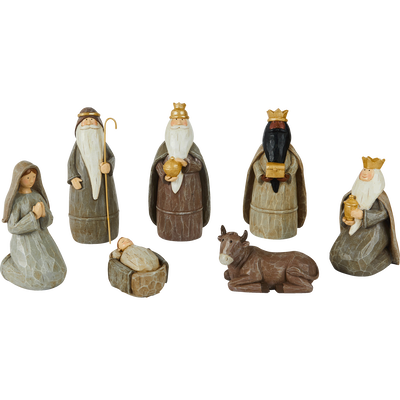 7 figurines en céramiques-CRECHE