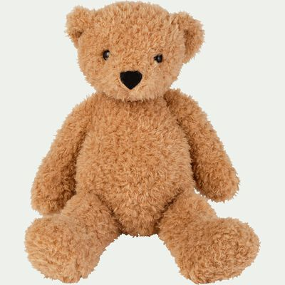 Peluche ours - marron clair h37cm-Theodore