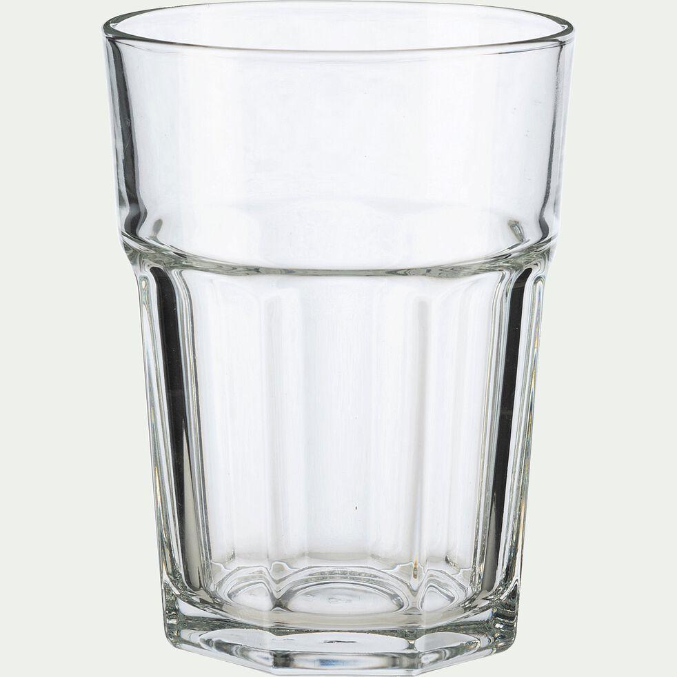 Verre transparent en verre forme haute 36cl-CHICAGO