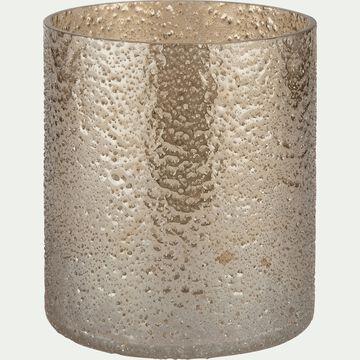 Photophore en verre - marron D10xH11cm-PICHOTO
