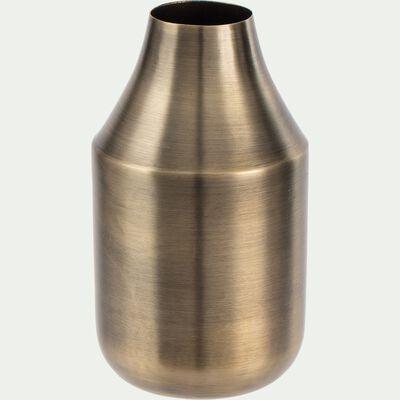 Vase bouteille en fer - doré D7,5xH13cm-PYLOS