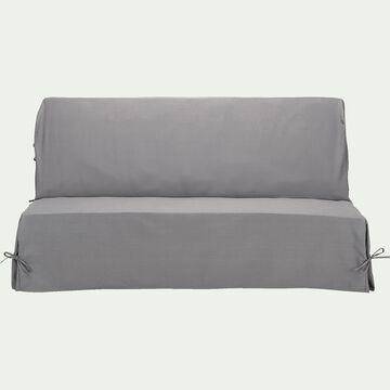 Housse pour clic-clac en polycoton - gris restanque L140cm-PAULINE