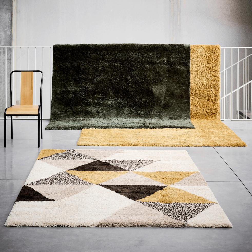 Tapis à motifs géométriques jaune 120x170cm-OSLO