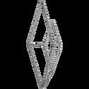 Patère en métal gris 1 emplacement l11xl4xh24cm-Pacha