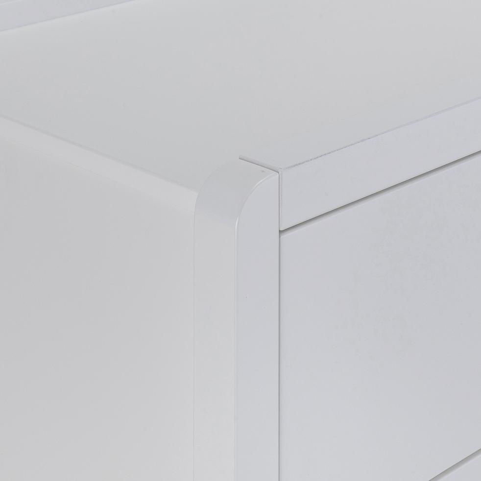 Commode 3 tiroirs 50x100cm blanc-JAUME