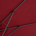 Parasol déporté rouge 3x3m-AURIOL
