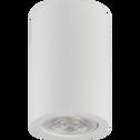 Spot en plâtre blanc D7xH11cm-GIPSY