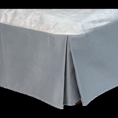 Cache-sommier gris 32cm - 200x200 cm-OPALINE