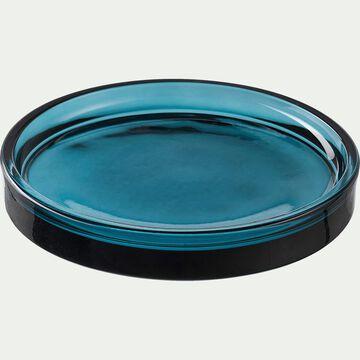 Porte-savon en verre - bleu D12,5cm-OSCO