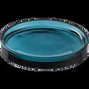 Plateau en verre bleu-OSCO