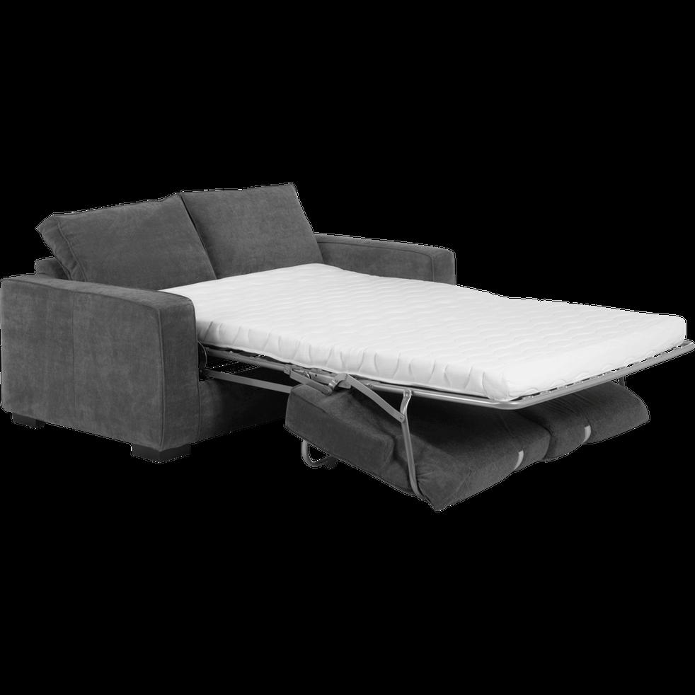 Canapé convertible 3 places en tissu gris souris-California