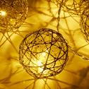 Guirlande lumineuse 380cm - 20 LED blanc chaud-YNIOLD
