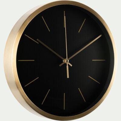 Horloge en aluminium - noir D25cm-Bonn