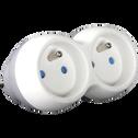 Multiprise blanche sans fil à 2 entrées-BIPLITE
