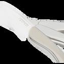 Coffret de 4 couteaux et 1 éplucheur en céramique blanche-TEDDY