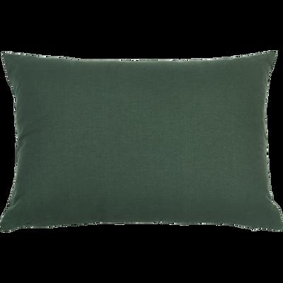 Coussin en coton vert cèdre 40x60cm-CALANQUES