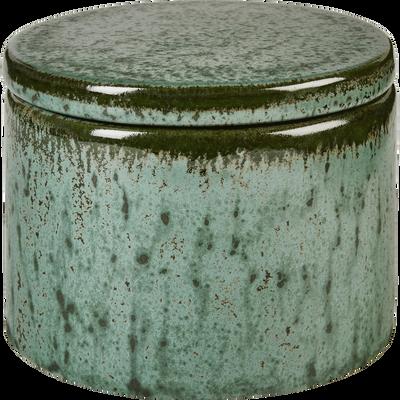 Boîte en céramique verte D10 cm-CIARA