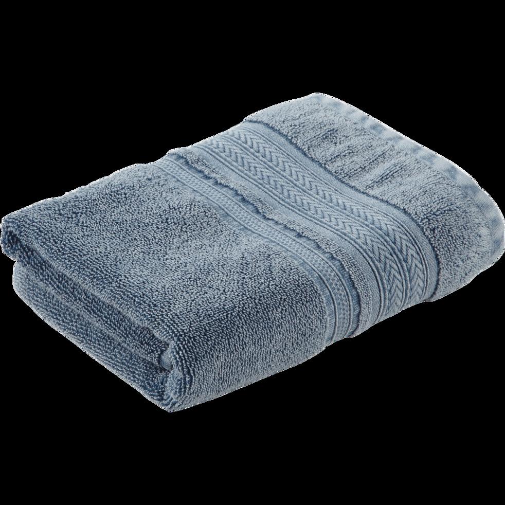 Serviette de bain 50x90cm à liteau tressé-CHARLY
