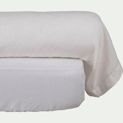 Taie de traversin en lin - blanc 45x190cm-VENCE