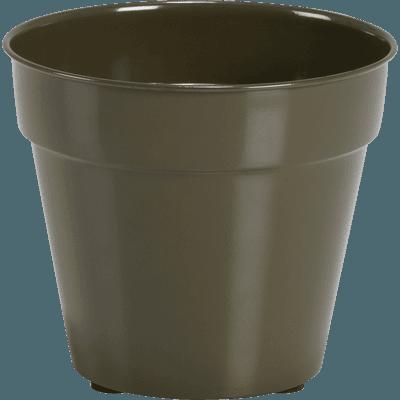 Cache-pot vert cèdre en fer D11xH13cm-FLORA