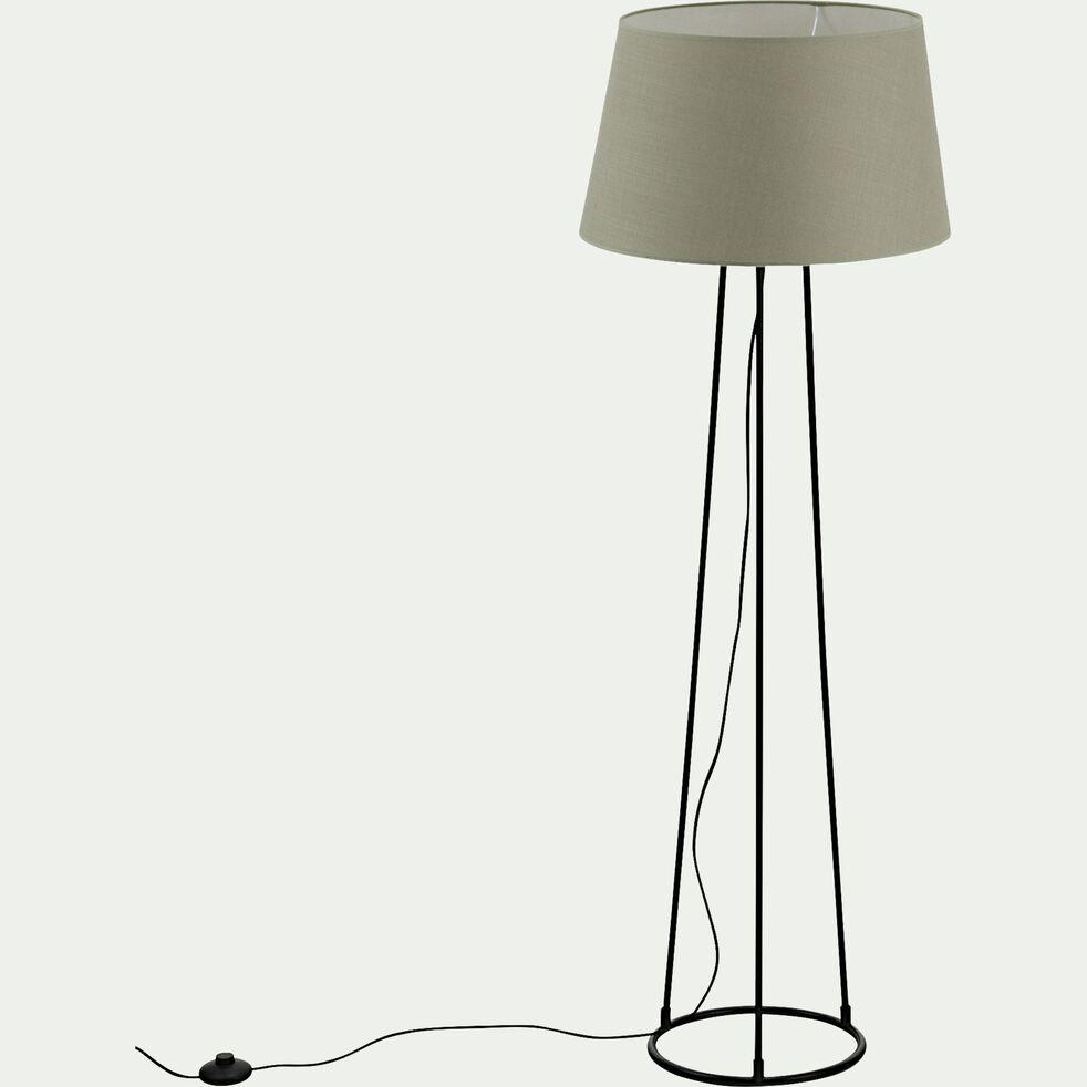 Lampadaire en métal - vert olivier-BLANDINE
