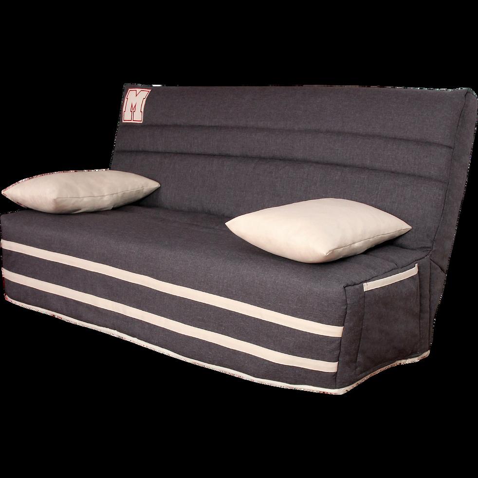 housse pour clic clac 130cm avec poche de rangement. Black Bedroom Furniture Sets. Home Design Ideas