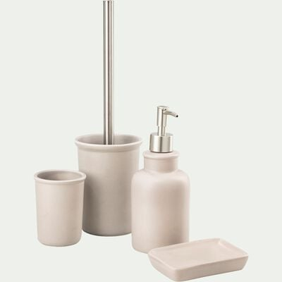 Porte brosse à dent en céramique - beige alpilles-DANA