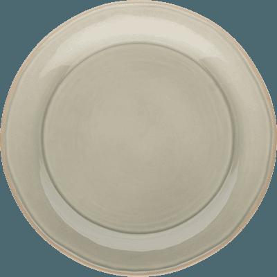 Assiette plate en faïence vert olivier D27cm-LUBERON