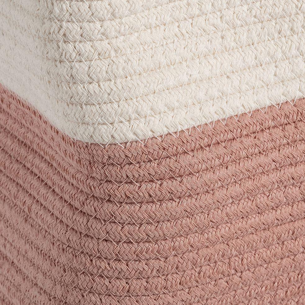 Panier de rangement bicolore - rose D40xH40cm-Louni